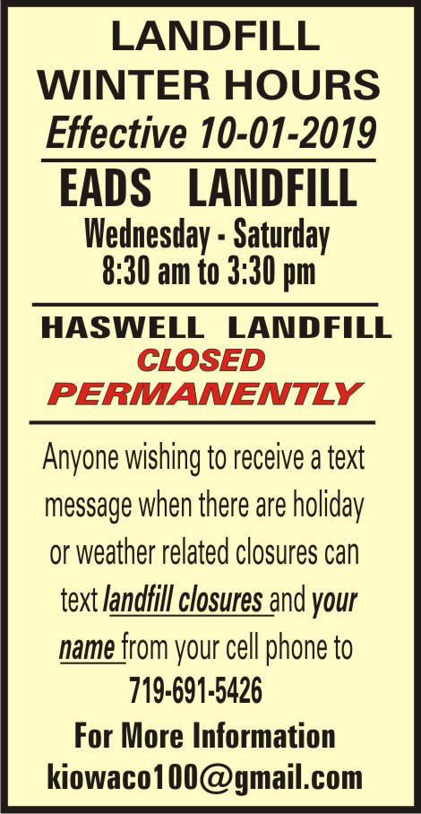 Eads Landfill Hours