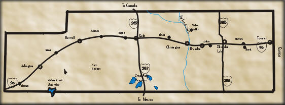 Location of the Sand Creek Massacre National Histoiric Site